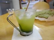 抹茶蜜を使用した抹茶レモンソーダ><p class=