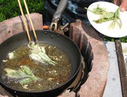 茶葉の天ぷら