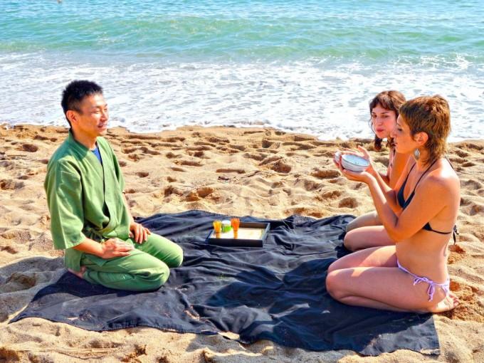 【日本茶を世界へ番外編】「ビーチでプチお茶会 in バルセロナ」 欧州遠征2014スペイン編