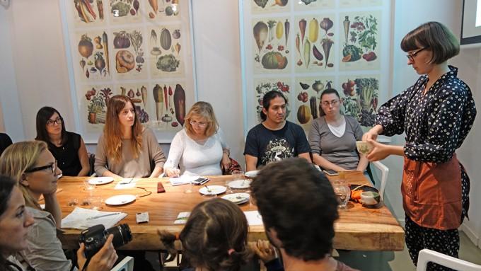 バルセロナの料理教室にて「抹茶のワークショップ」