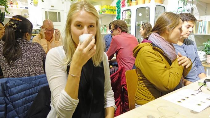 アムステルダムにて。日本茶セミナー@お花屋さん