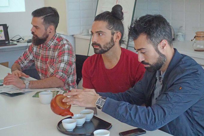 バリスタを養成するコーヒーアカデミーでの日本茶セミナー@カステルデフェルス(スペイン)【日本茶普及欧州ツアー2017】