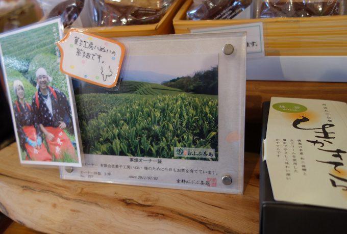 【茶畑オーナー制度】おぶぶの抹茶を使って