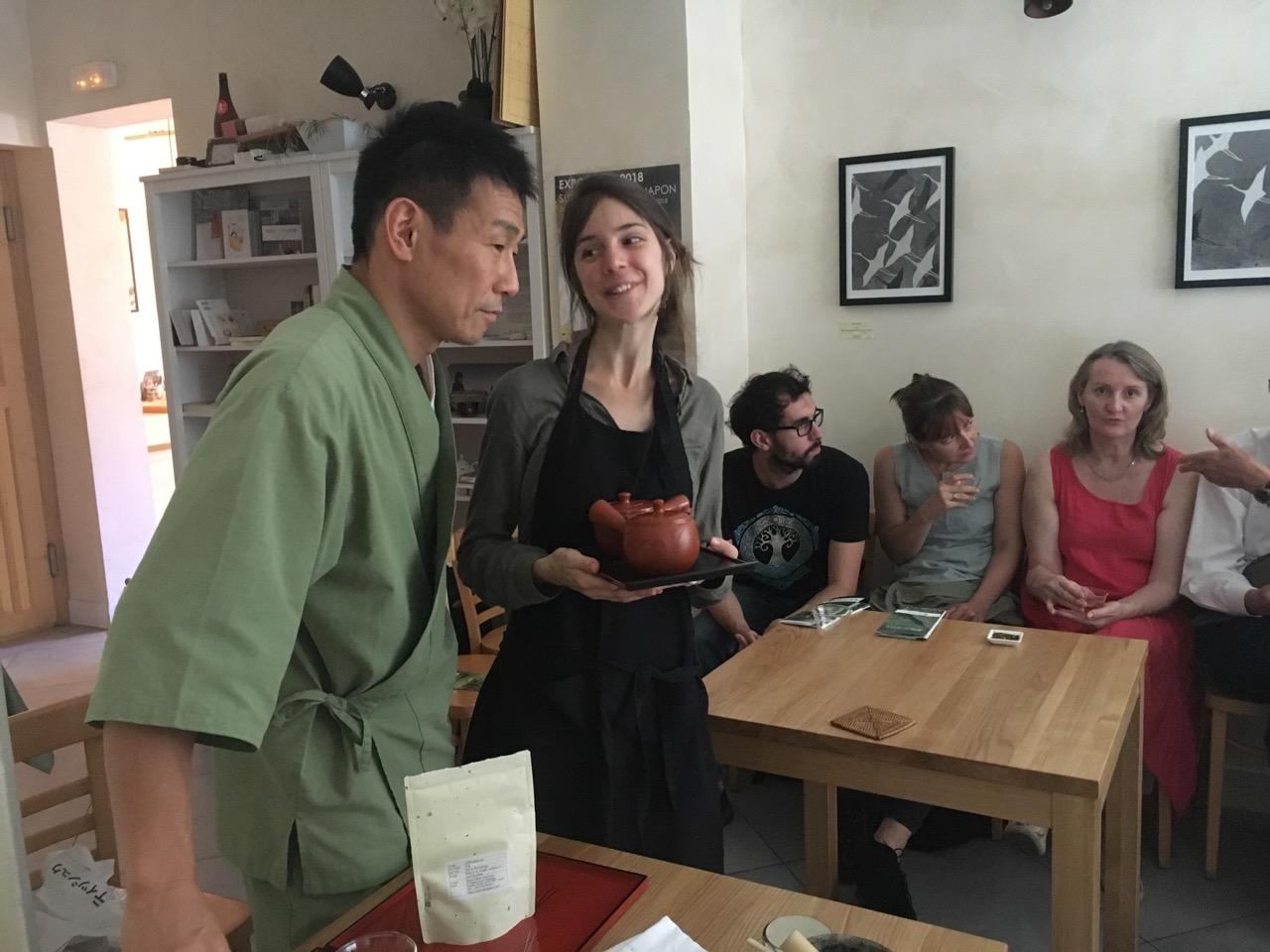 日本茶フリートーク in パリ・パティスリー朋 日本茶普及海外ツアー・欧州遠征2018
