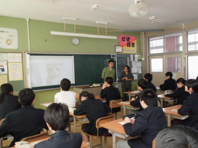 【セミナー講演】和束中学校「職業人によるお話」