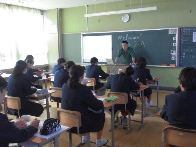 【セミナー講演】地元・和束中学校2年生